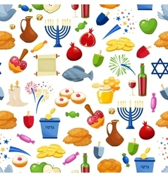 Happy Hanukkah Seamless background vector