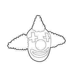 Head clown icon outline style vector