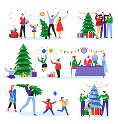 home party christmas celebration new year party vector image
