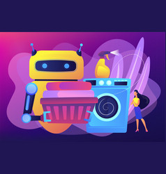 home robot technology concept vector image