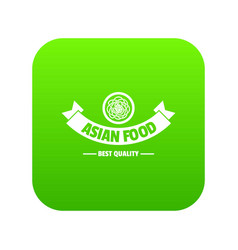 Hot asian food icon green vector