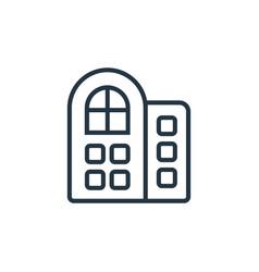Hotels icon editable stroke linear vector