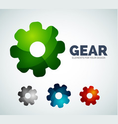 industrial gear abstract icons vector image