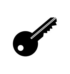 Isolated door key vector