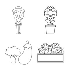 isolated object of farm and agriculture sign vector image
