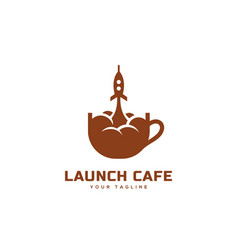 Launch cafe logo vector