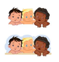 little children different vector image