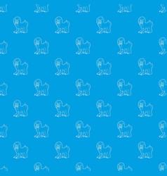 Mandrill pattern seamless blue vector