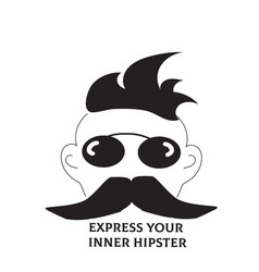 manly hipster male background with champion vector image
