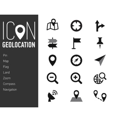 Map Icons and Location Icons with White Background vector