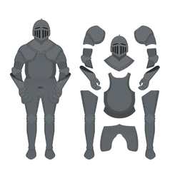Medieval knight armor set vector