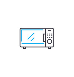 microwave oven linear icon concept microwave oven vector image