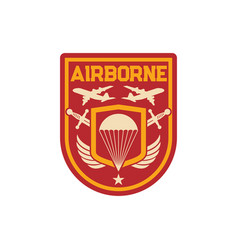 Military chevron airborne special division squad vector