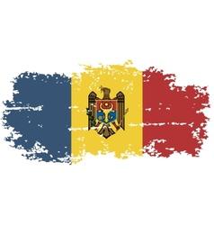 Moldova grunge flag vector