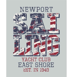 Newport sailing club vector