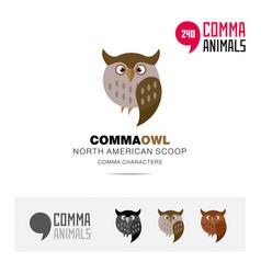 north american scoop bird concept icon and logo vector image
