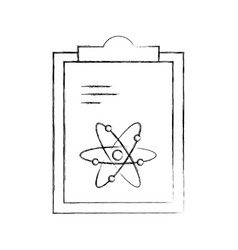 Paper clipboard with atom vector