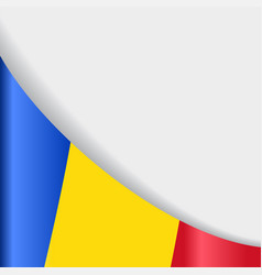 Romanian flag background vector
