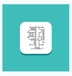 Round button for measure caliper calipers physics vector