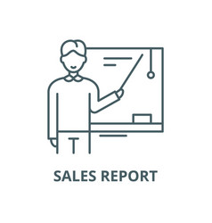 sales report line icon linear concept vector image