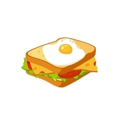 Sandwich Breakfast Food Element Isolated Icon vector