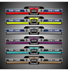 Scoreboard template football vector