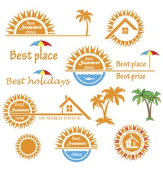 Season summer emblems design vector
