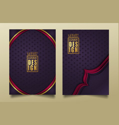 Set cover design template with luxury and elegant vector