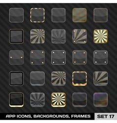 Set Of App Icon Frames Templates Backgrounds vector image