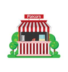 shop popcorn flat vector image