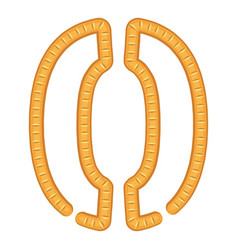 Sign parenthesis bread icon cartoon style vector
