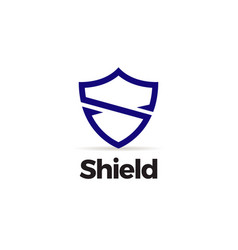 simple shield letter s logo template vector image