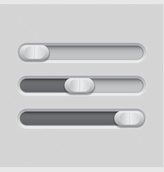 sliders gray control level buttons vector image