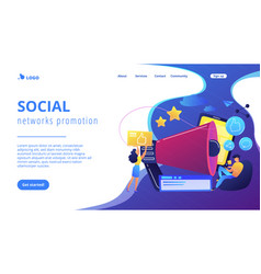 social networks promotion concept landing page vector image