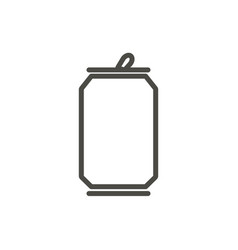 soda can icon line drink bottle symbol vector image