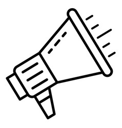 talking megaphone icon outline style vector image