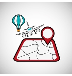 Travel design Tourism icon Isolated image vector image