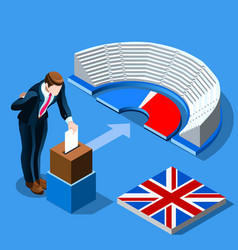 Uk election concept english people vote and vector