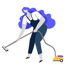 Vacuum cleaning clean service or housewife vector