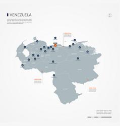 Venezuela infographic map vector