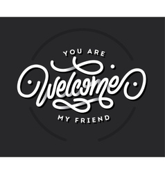 Welcome lettering title vector