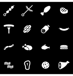 White meat icon set vector