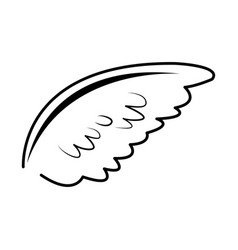 Wing feather bird angel decoration abstract symbol vector