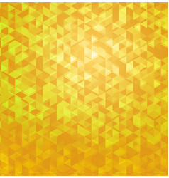 yellow geometric polygonal abstract background vector image