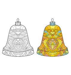 zentangle stylized christmas decorations hand vector image