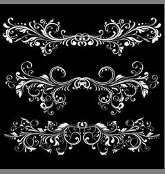 floral decorative ornaments divider elements on vector image