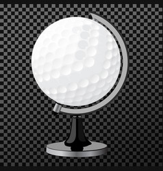 golf boll golf globe isolated over vector image vector image