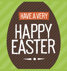 happy easter everyone easter egg vector image vector image