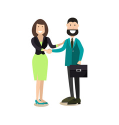 office people concept in flat vector image vector image