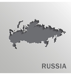 Russia map vector image